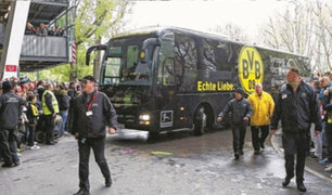 Explosión cerca del autobús del equipo Borussia Dortmund deja un herido