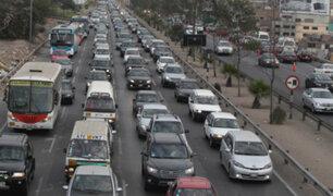 Gran congestión vehicular paraliza principales avenidas de Lima Sur