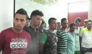 Detienen a 9 colombianos de red ilegal de prestamistas en Cañete