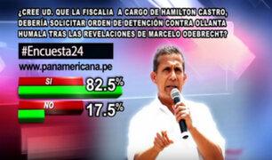 Encuesta 24: 82.5% a favor de que ordenen detención contra Humala
