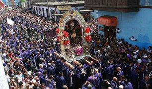 Señor de los Milagros salió en procesión por Semana Santa