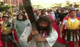 Cercado de Lima: 'Cristo cholo' escenificó el tradicional Vía Crucis