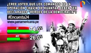 Encuesta 24: 74% cree que comandos de Chavín de Huántar deben ser declarados héroes