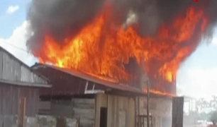Incendio arrasa por completo una vivienda en Iquitos