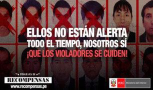 Mininter: intensifica difusión de Programa de Recompensas para violadores