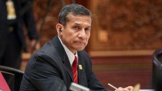 Comisión de Defensa: Ollanta Humala fue citado para este viernes