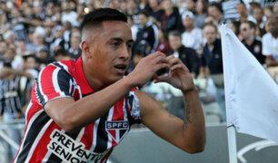 Christian Cueva fue titular en triunfo de Sao Paulo sobre Cruzeiro