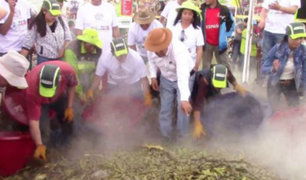 Junín: se elaboró la pachamanca más grande del mundo en Huancayo