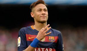 Neymar festejó victoria del Barça