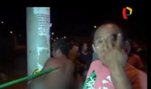 Chimbote: policía rescata a ladrón que era golpeado por vecinos