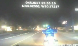 EEUU: motociclista falleció tras persecución policial