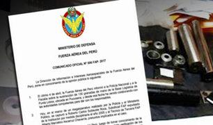 FAP informó que implicado en tráfico de armas fue expulsado de institución en el 2005