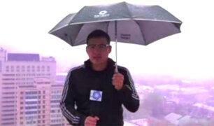 YouTube: captan momento exacto en que un rayo cae sobre reportero en China