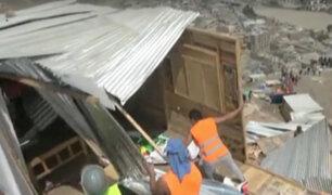 Independencia: desalojan a 80 familias estafadas en tráfico de terrenos
