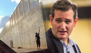 """Ted Cruz propone financiar el muro de Trump con dinero del """"Chapo"""" Guzmán"""