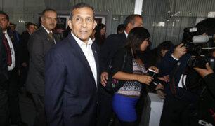 Ollanta Humala se presenta ante la Fiscalía de Lavado de Activos