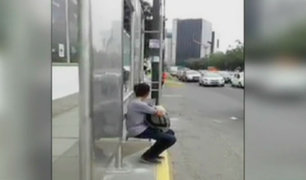 Avenida Javier Prado: paraderos mal ubicados son un peligro para los usuarios