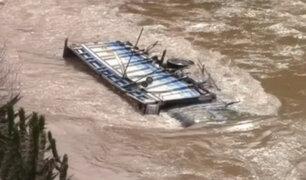 Un desaparecido y un herido deja caída de camión en Jauja