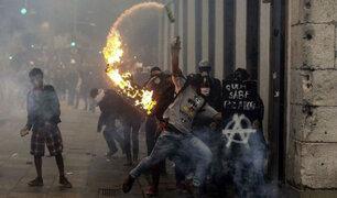 Violenta jornada de protesta y huelga general en Brasil