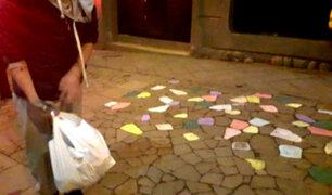 Cusco: detienen a turista por hacer pintas en calle del Centro Histórico