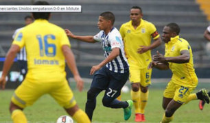 Comerciantes Unidos y Alianza Lima empataron en Matute