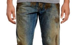 Tienda lanzó estos jeans de lujo 'cubiertos de barro' y ha causado indignación [FOTOS]