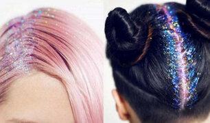 La nueva moda de escarchar y colorear el cabello marca tendencia