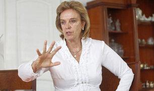 Luisa María Cuculiza hace duras críticas a congresistas fujimoristas