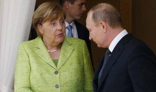Putin y Merkel reanudaron diálogo después de dos años en Rusia