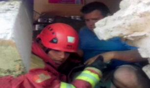 Callao: obreros quedaron atrapados tras derrumbe en vivienda