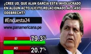 Encuesta 24: 79.3% cree que Alan García está involucrado en actos ilícitos