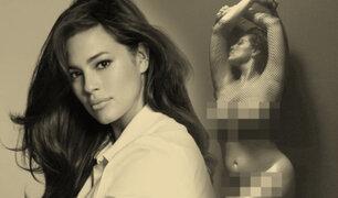 Ashley Graham posó desnuda y sin ningún complejo