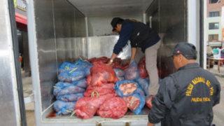 PNP halló 50 kilos de corazón de burro que iban a ser vendidos como anticuchos
