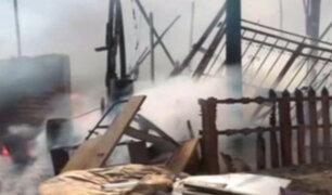 Ventanilla: incendio consume 7 viviendas y deja varios damnificados