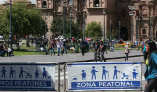Cusco: aumentará a 10 el número de calles peatonalizadas