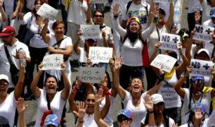Venezuela: mujeres marchan contra represión chavista