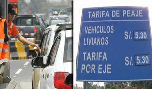 Conductores indignados por aumento de peajes en Vía de Evitamiento