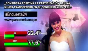 Encuesta 24: 77.6% no ve positivo participación transgénero en Miss Perú