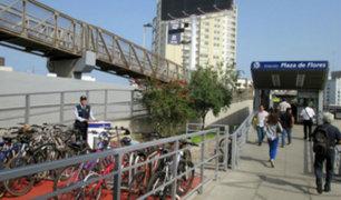 Barranco: inauguran nuevo estacionamiento para bicicletas en terminal del Metropolitano