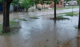 Calles y viviendas quedan inundadas por intensa lluvia en Bagua