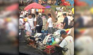 La Victoria: ambulantes invaden hasta dos carriles de la av. Aviación