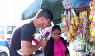 Ambulantes invaden veredas para vender sus productos