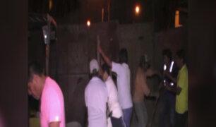 SJM: familias intentan desalojar a vecino que invade espacio público