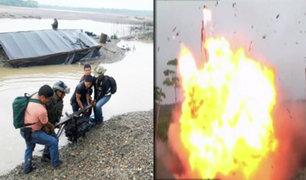 Campamento de minería ilegal fue destruido en Madre de Dios