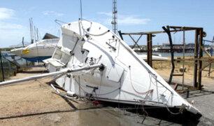 España: fuerte tormenta causa destrozos en localidad de Huelva