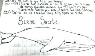 Detectan presunto caso del reto 'La Ballena Azul' en Chimbote