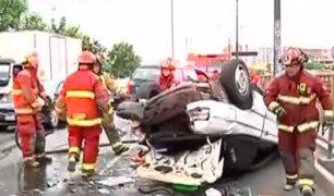 Cercado de Lima: se registró aparatoso accidente en la avenida Colonial