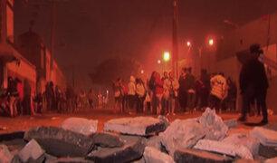 Familiares de internos de penal Sarita Colonia protestan por posible traslado de internos