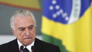 """Michel Temer: """"No renunciaré a la presidencia de Brasil"""""""
