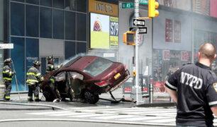 EEUU: cámaras captan atropello múltiple en Times Square